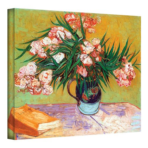 "18'' x 24'' ''Oleanders"" Canvas Wall Art by Vincent van Gogh"