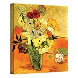 24'' x 18'' ''Japanese Vase with Roses and Anemones'' Canvas Wall Art by Vincent van Gogh