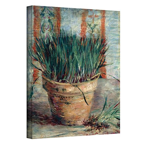 14'' x 18'' ''Chives with Flowerpot'' Canvas Wall Art by Vincent van Gogh