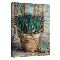 24'' x 32'' ''Chives with Flowerpot'' Canvas Wall Art by Vincent van Gogh