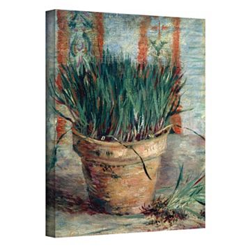 36'' x 48'' ''Chives with Flowerpot'' Canvas Wall Art by Vincent van Gogh