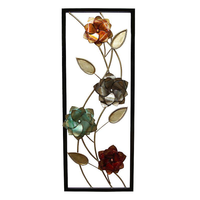 Metal Flower Wall Decor Kohls : Flower panel metal wall decor