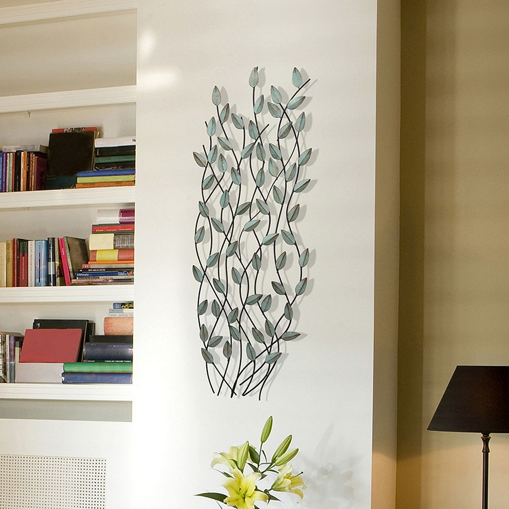 Stratton Home Patina Leaves Metal Wall Decor