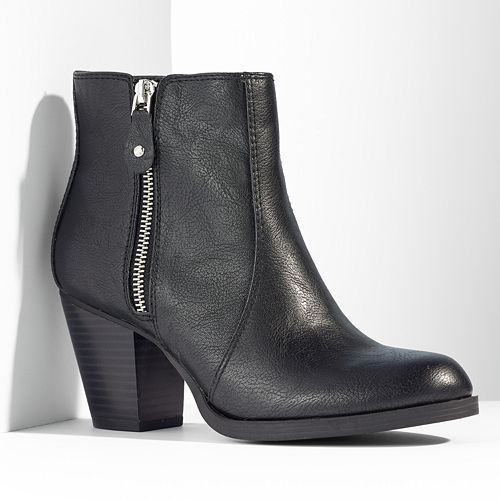 Simply Vera Vera Wang Women's Zipper Ankle Boots