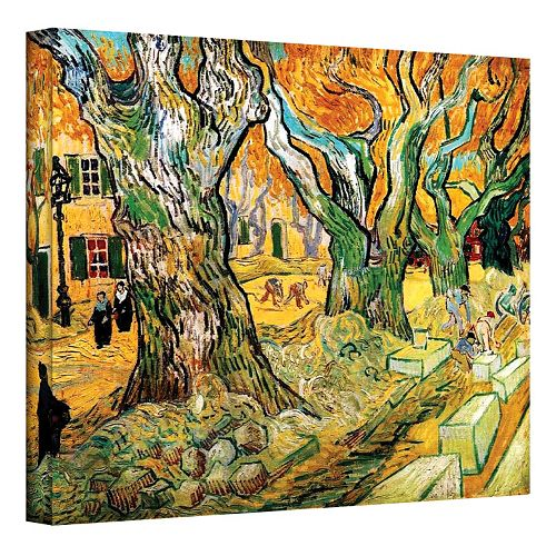 "36'' x 48'' ""The Road Menders"" Canvas Wall Art by Vincent van Gogh"