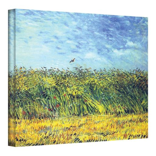 "14'' x 18'' ""Wheat Field with a Lark"" Canvas Wall Art by Vincent van Gogh"