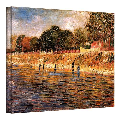 """24'' x 32'' ''Banks of the Seine"""" Canvas Wall Art by Vincent van Gogh"""