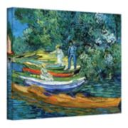 """18'' x 24'' """"Bank of The Oise at Auver"""" Canvas Wall Art by Vincent van Gogh"""