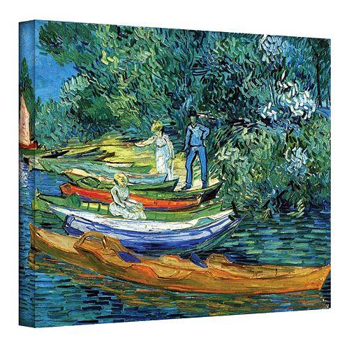 "36'' x 48'' ""Bank of The Oise at Auver"" Canvas Wall Art by Vincent van Gogh"