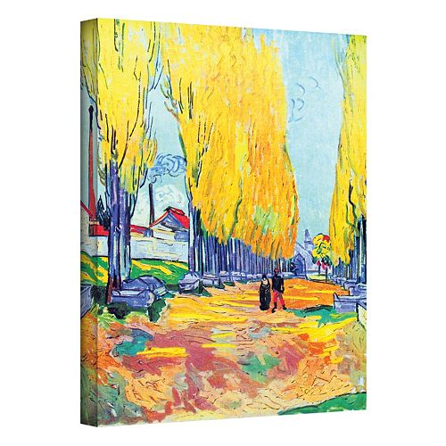 "18'' x 14'' ""Les Alyscamps"" Canvas Wall Art by Vincent van Gogh"