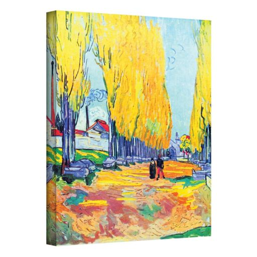 "32'' x 24'' ""Les Alyscamps"" Canvas Wall Art by Vincent van Gogh"