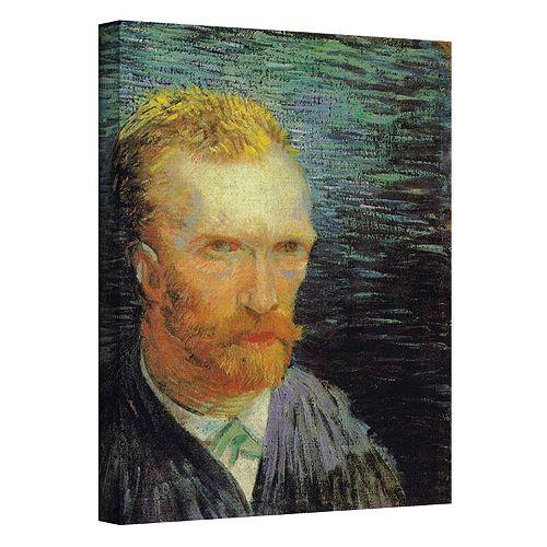"48'' x 36'' ""Self Portrait"" Canvas Wall Art by Vincent van Gogh"