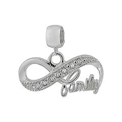 Individuality Beads Sterling Silver Cubic Zirconia Infinity Charm