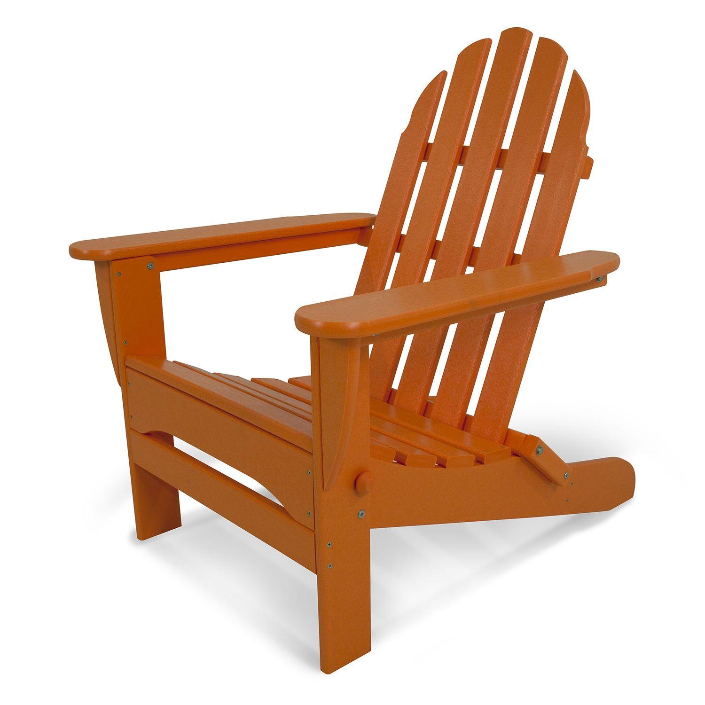 POLYWOOD® Classic Folding Adirondack Chair   Outdoor