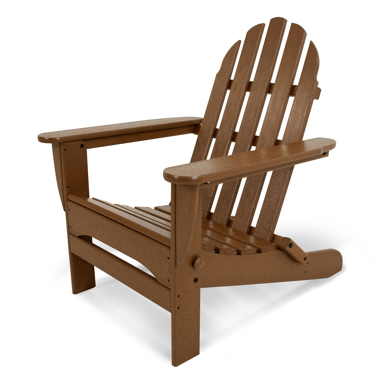 Amazing POLYWOOD Classic Folding Adirondack Chair Outdoor