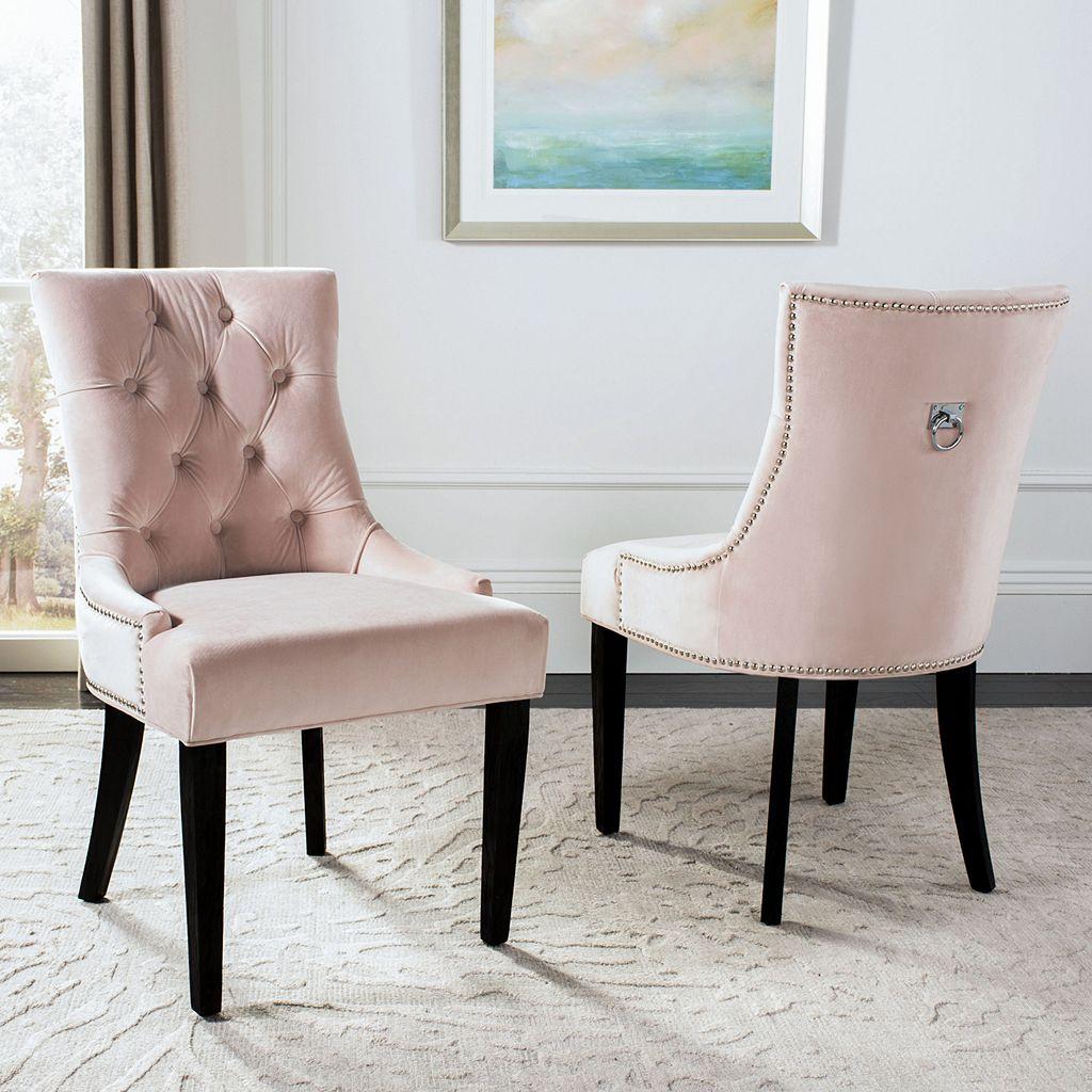 Safavieh 2-pc. Harlow Ring Linen Chair Set