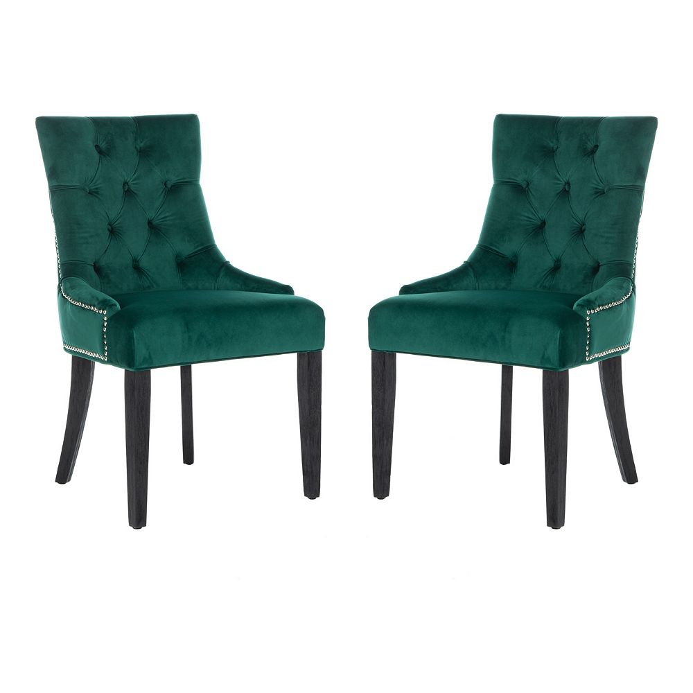 Safavieh Harlow Tufted Dining Chair 2-piece Set
