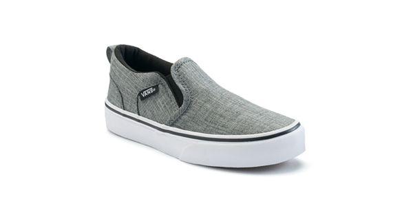 White Kids Slip On Shoes