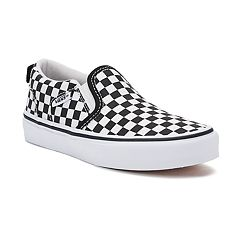 Vans Asher Boys' Checker Slip On Skate Shoes