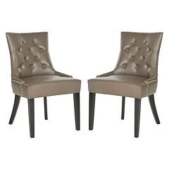 Safavieh 2 pc Harlow Ring Leather Chair Set