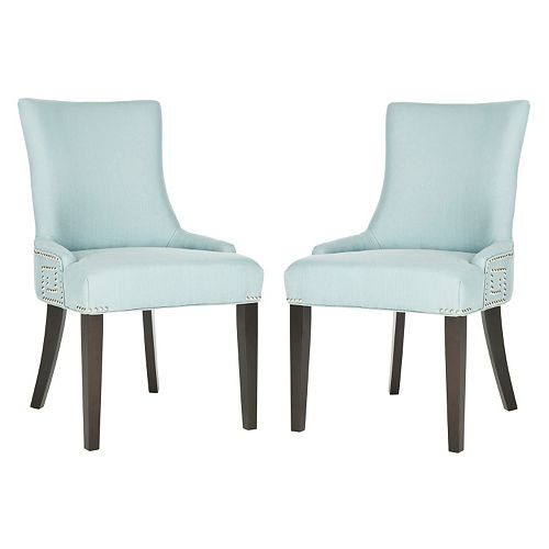 Safavieh 2-pc. Gretchen Blue Linen Side Chair Set