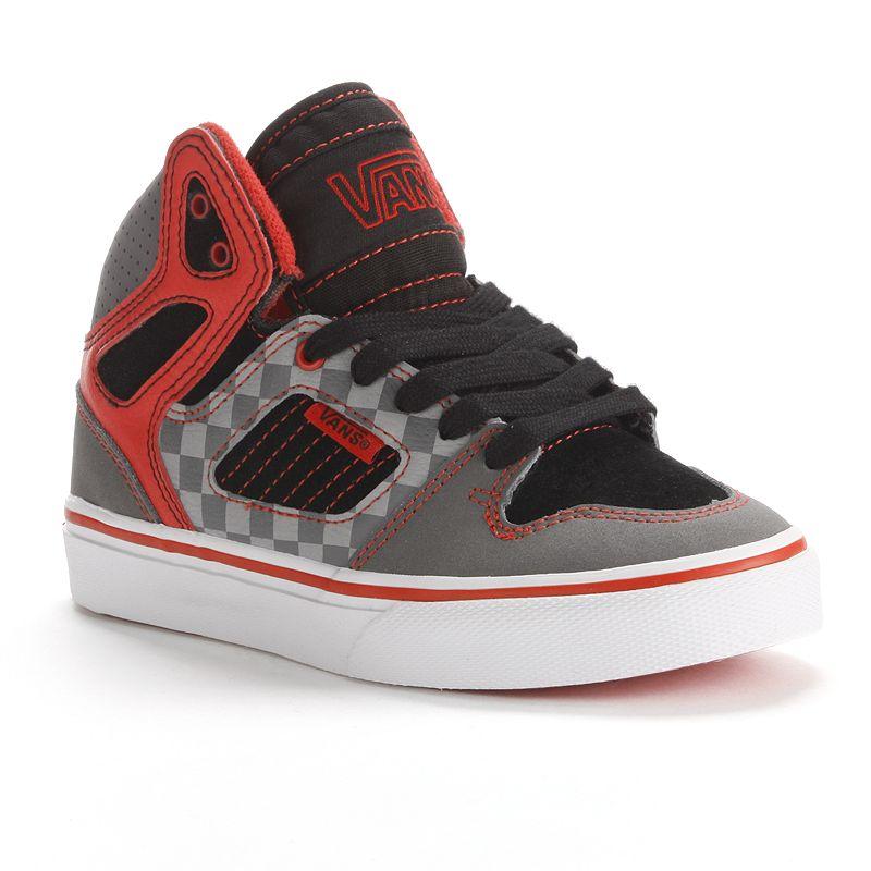 Vans Allred Checkered High-Top Skate Shoes - Boys