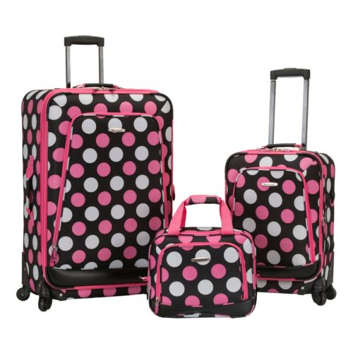 Rockland Luggage, 3-pc. Expandable Spinner Luggage Set