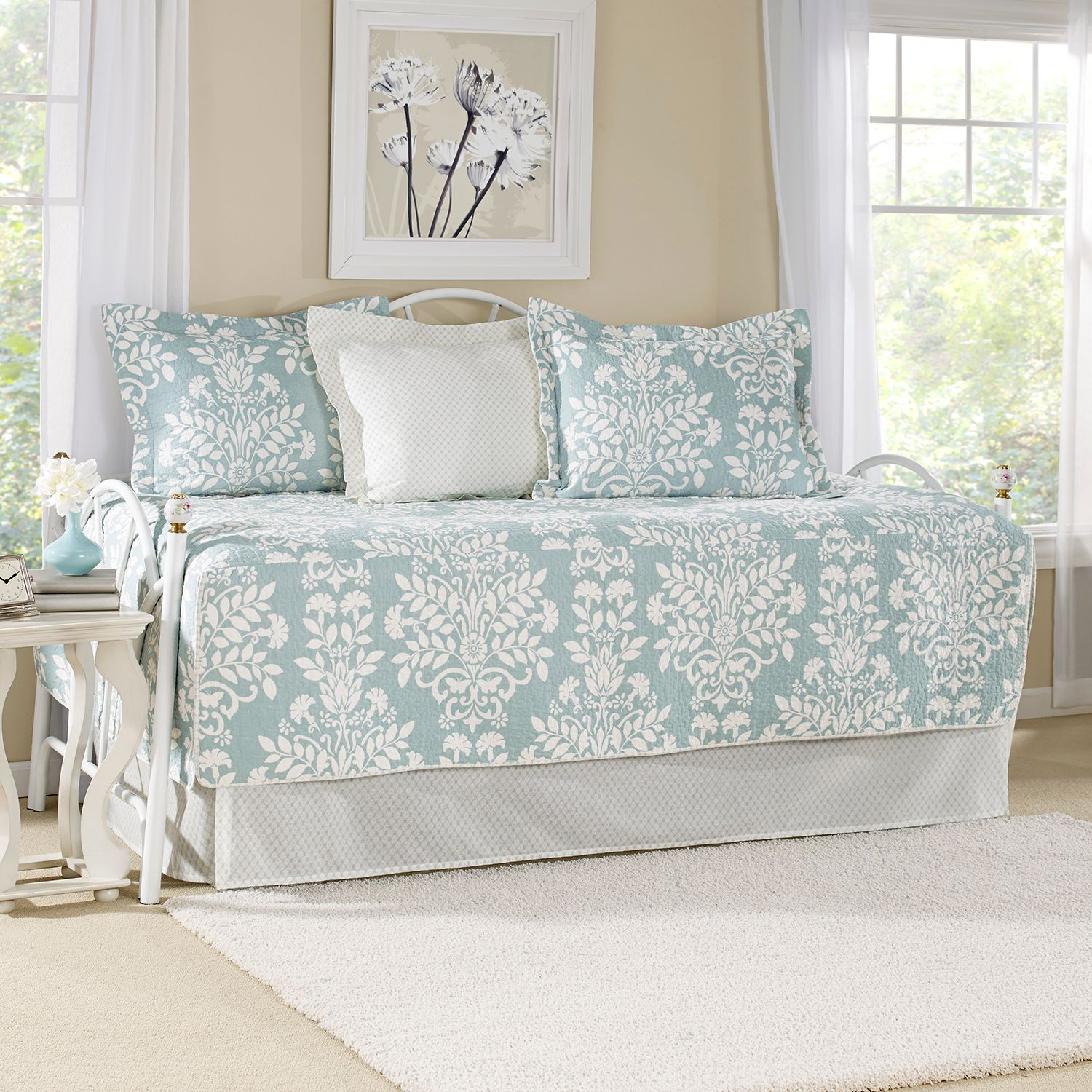 laura ashley lifestyles rowland 5pc daybed quilt set