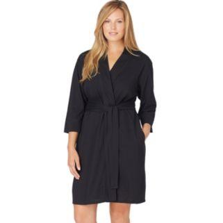 Plus Size Jockey Modern Cotton Wrap Robe