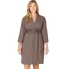 Plus Size Jockey Modern Cotton Wrap Robe