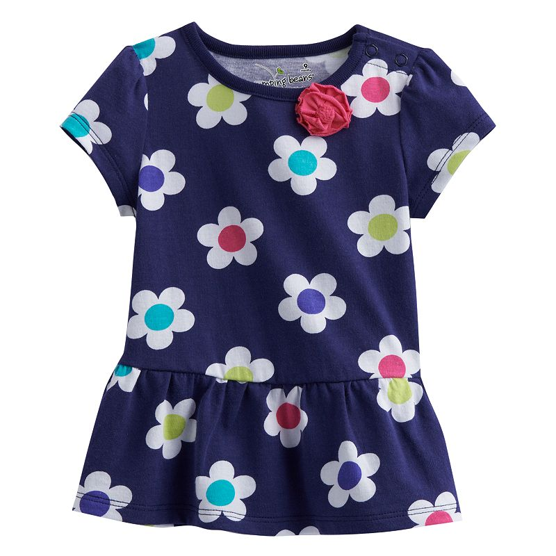 Jumping Beans Floral Peplum Tee - Baby