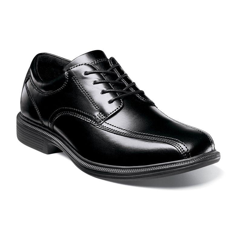 Nunn Bush Bartole Street Kore Men's Bicycle Toe Oxford Dress Shoes, Size: medium (9.5), Black
