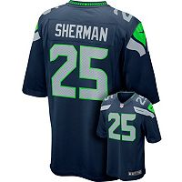 Men's Nike Seattle Seahawks Richard Sherman NFL Replica Jersey