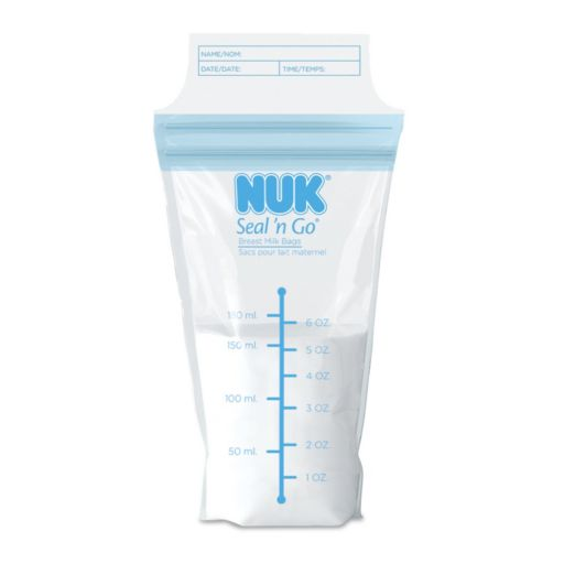 NUK 50-ct. Seal 'N Go Breast Milk Storage Bags