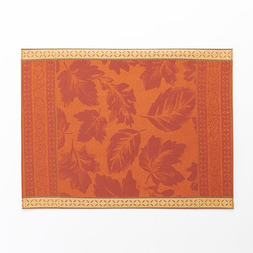 Harvest Red Leaf Jacquard Placemat