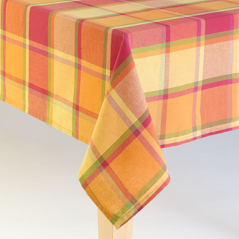 Harvest Plaid Tablecloth - 70'' Round