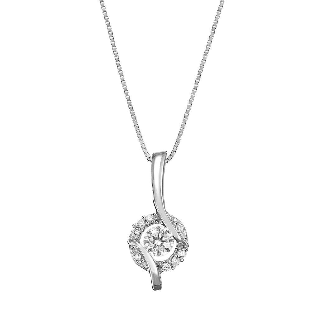 Sirena Collection 14k White Gold 1/4-ct. T.W. Diamond Pendant