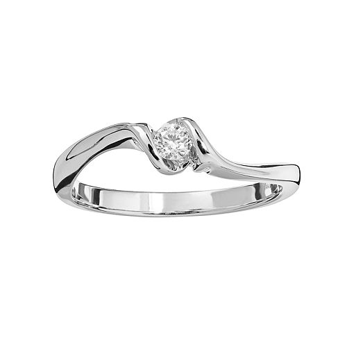 Sirena Collection 14k White Gold 1/10-ct. T.W. Diamond Solitaire Ring