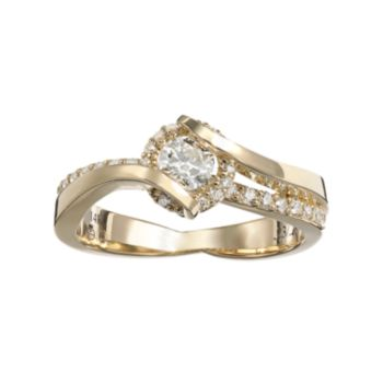 Sirena Collection 14k Gold 1/2-ct. T.W. Diamond Bypass Ring
