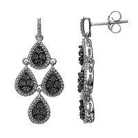 Sterling Silver Textured Teardrop Kite Earrings