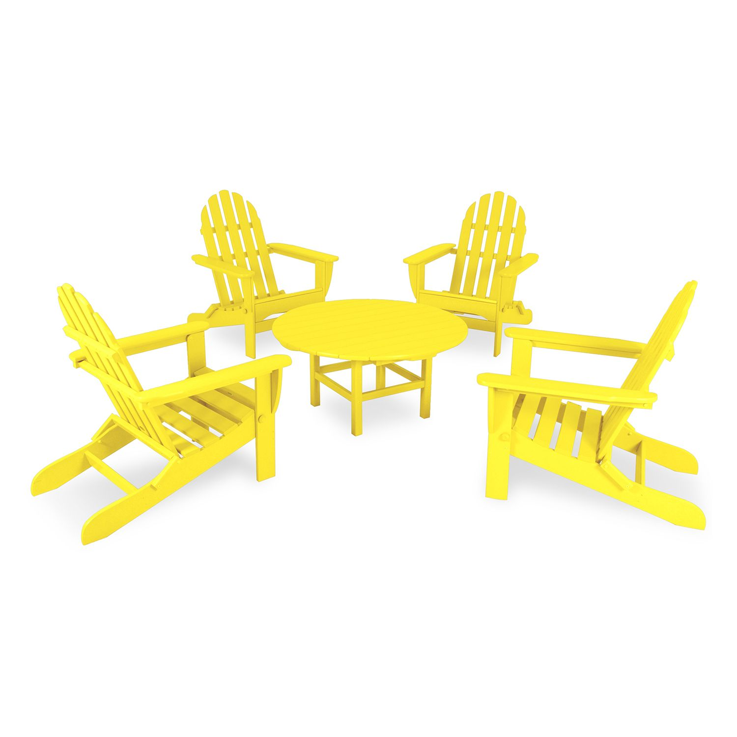 classic neon folding adirondack chair u0026 table set outdoor - Polywood Adirondack Chairs