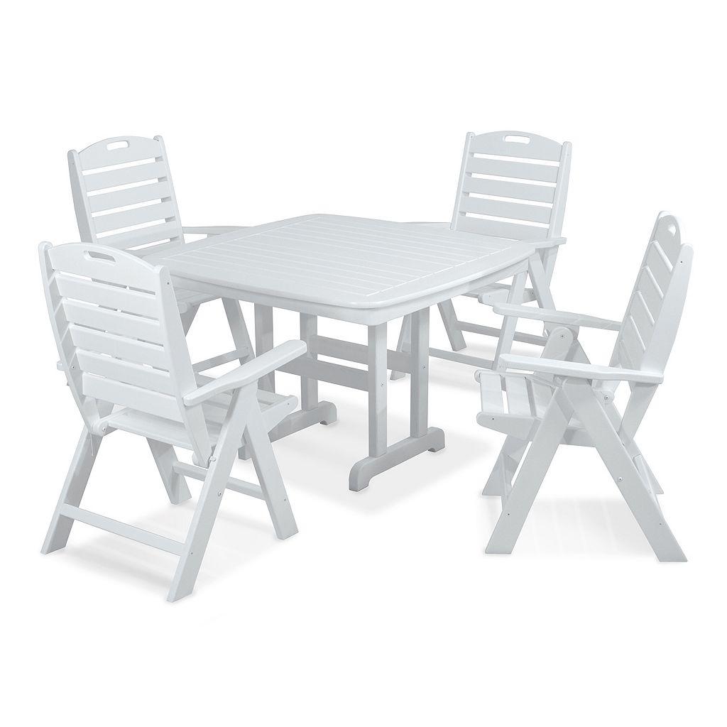 POLYWOOD® 5-pc. Nautical Dining Set - Outdoor
