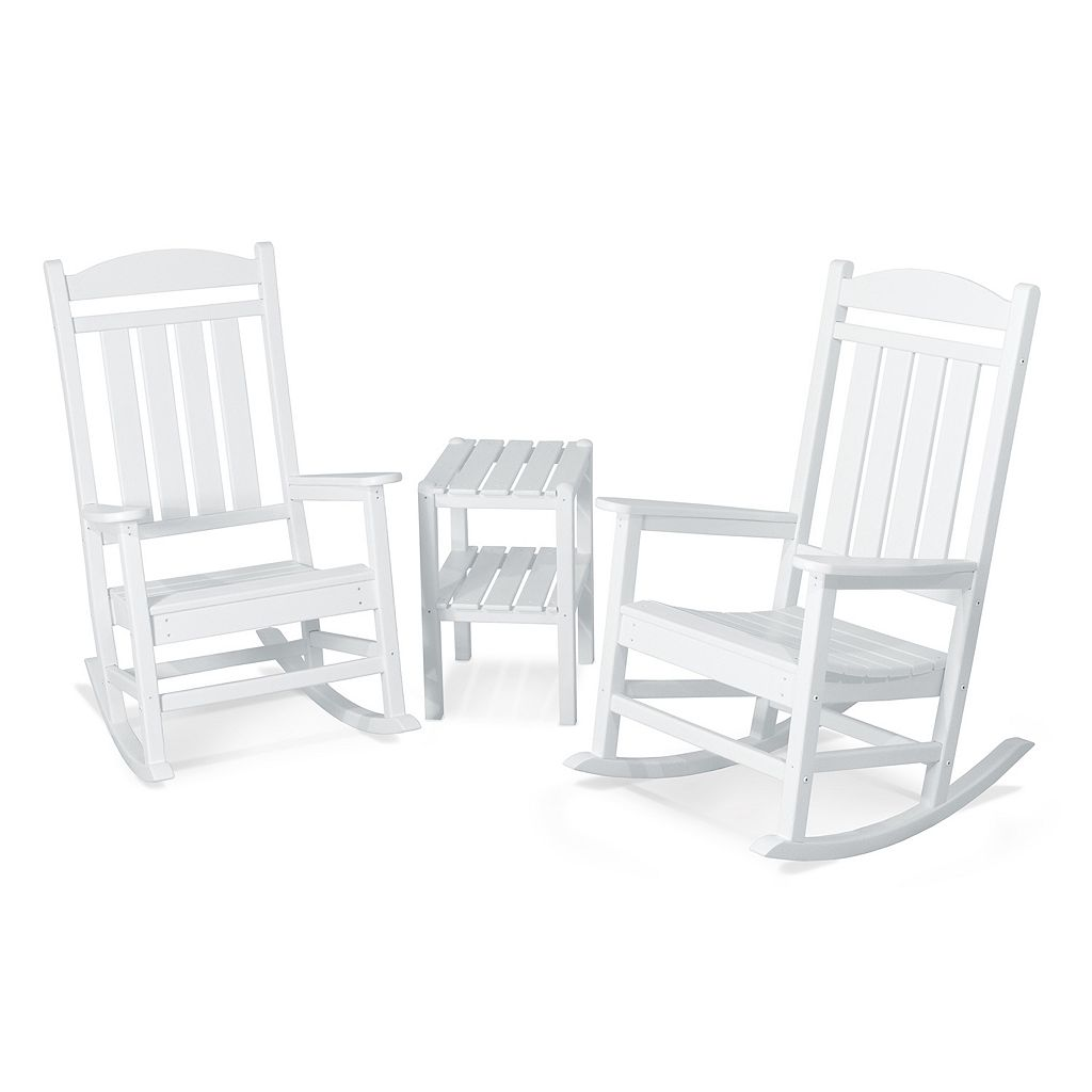POLYWOOD® 3-pc. Presidential Rocking Chair & Table Set - Outdoor