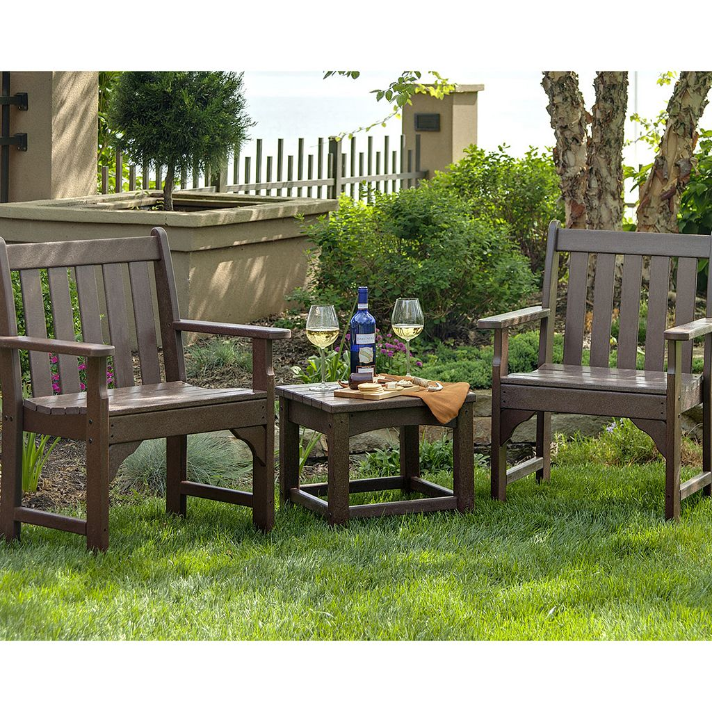 POLYWOOD 3-pc. Vineyard Chair and Table Set - Outdoor