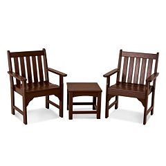 POLYWOOD® 3 pc Vineyard Chair & Table Set - Outdoor