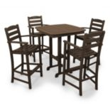 POLYWOOD® 5-pc. La Casa Cafe Bar Chair & Table Set - Outdoor