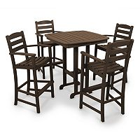 POLYWOOD® 5-pc. La Casa Cafe Bar Chair & Table Set - Outdoor