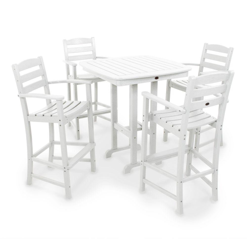 5 pc La Casa Cafe Bar Chair & Table Set Outdoor