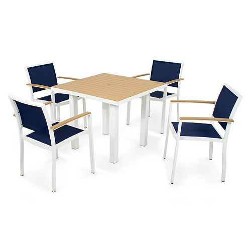 POLYWOOD® 5-pc. Bayline 36-inch Dining Table & Chair Set - Outdoor