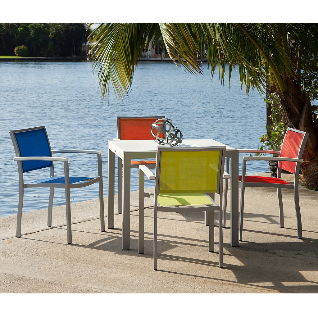 POLYWOOD 5-pc. Bayline Dining Table and Chair Set - Outdoor
